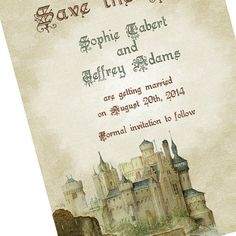 Camelot Castle Save The Date Cards  Fairytale Wedding by dearemma, $2.99