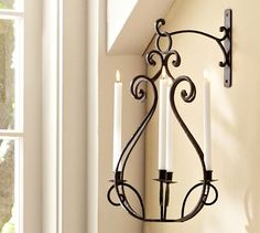 Over the opening Arch between the Livingroom & Familyroom? Antilles Candelier #potterybarn