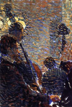 Musicians - Louis Hayet 1889-90 French 1864-1940 Oil on canvas