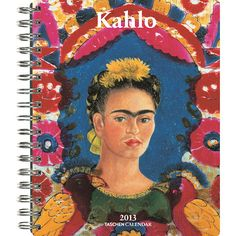 Kahlo Engagement Calendar: Frida Kahlo (1907 – 1954) was a Mexican artist who is one of the most important 20th century painters, and one of the few Latin American artists to have achieved a global reputation.  http://www.calendars.com/Latino-Art/Kahlo-2013-Softcover-Engagement-Calendar/prod201300007233/?categoryId=cat170006=cat170006#