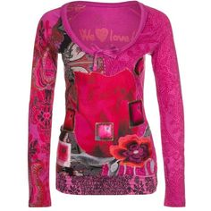Desigual DOLLY Long sleeved top (115 AUD) ❤ liked on Polyvore