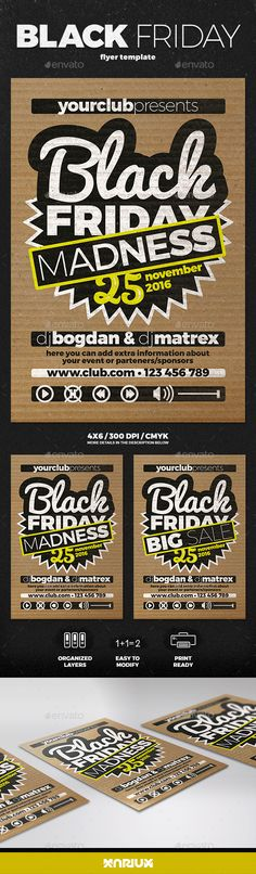 Black Friday Flyer — Photoshop PSD #party #black • Available here → https://graphicriver.net/item/black-friday-flyer/18705023?ref=pxcr