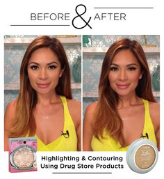 Before & After: Highlighting and Contouring with Drugstore Brands