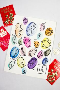 Invitation to Create Watercolor Rats- Fun and Easy Chinese New Year Art Activity for kids of all ages New Year's Crafts, Holiday Crafts For Kids, Arts And Crafts, Different Holidays, Holidays With Kids, School Art Projects, Projects For Kids, Art Activities For Kids, Art For Kids