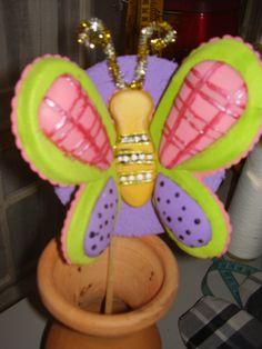Mariposa en foamy