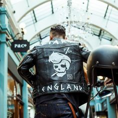 @zac_ruin in his hand painted LIARS jacket from the iconic Desires & Liars photoshoot! #pandco #desiresandliars