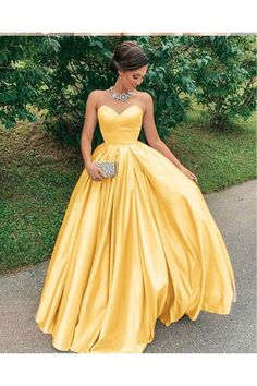 Sexy Yellow Strapless Satin Prom Dress Sweetheart Plus Size A Line Formal Evening Dresses Long Party Gowns, 493 sold by daisydress. Shop more products from daisydress on Storenvy, the home of independent small businesses all over the world. Strapless Prom Dresses, A Line Prom Dresses, Lace Evening Dresses, Event Dresses, Prom Party Dresses, Yellow Prom Dresses, Dress Prom, Yellow Evening Gown, Evening Gowns