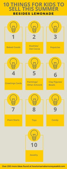 10 Things To Sell Besides Lemonade