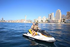 Jet ski in Benidorm Fablefrique hashtag by Lily