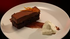 Kerrie and Craig's Chocolate Jaffa Mousse Cake from season 4 of My kitchen rules Chocolate Mousse Cake, Chocolate Desserts, My Kitchen Rules, Cake Recipes, Dessert Recipes, Great Recipes, Favorite Recipes, Food Tech, Savoury Dishes