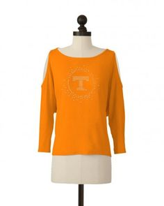The University of Tennessee Cutaway Shoulder Top