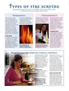 Types of fire scrying