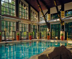 "Deluxe accommodations and amenities provide the perfect setting for your getaway at @The Lodge at Woodloch ...A Destination Spa Resort | Book now with Deal of the Week | ""Top 10 Organic Spa"" 