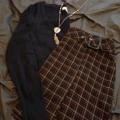 Express Brown knit mini skirt Express Dark plaid mini skirt with buckle. Size 7/8 Express Skirts Mini