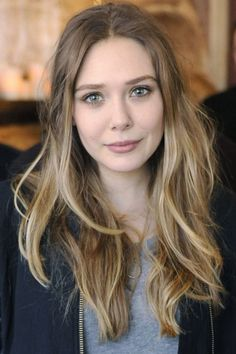 Elizabeth Olsen's light blonde and ashy dark blonde hair color... I feel like I'm looking in a mirror...