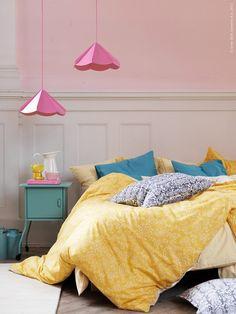 Amazon.com - Ikea Akertistel 3pc Queen Duvet Quilt Cover 100 Percent Cotton Yellow / White - Duvet Cover Sets