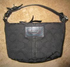 Authentic COACH Signature Black Handbag, Purse