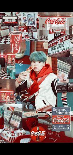 Refreshing Drinks, Bts Wallpaper, Coca Cola, Baseball Cards, Coke, Cola