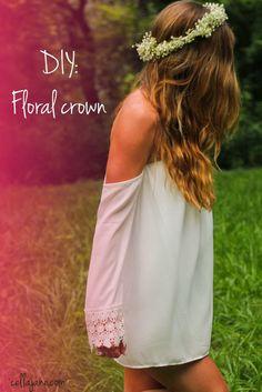 Cella Jane // Fashion + Lifestyle Blog: HOW TO MAKE A FLOWER CROWN | DIY