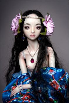 Marina Bychkova, Russian born Canadian based figurative artist and founder of Enchanted Doll™ (luxury toy label of exquisite, porcelain dolls)