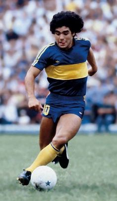 Diego Armando Maradona, Boca Juniors. Retro Football, World Football, Vintage Football, Sport Football, Maradona Football, Argentina Football, All Star, Diego Armando, Legends Football