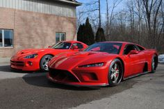 My two faves; Dodge Viper and Mach 7 Falcon.