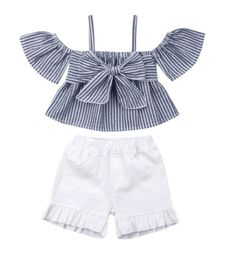 YOUNGER TREE Toddler Baby Girl Shorts Sets Off The Shoulder Ruffle T-Shirt Shorts Headband Summer Outfits Clothes — Details can be found by clicking on the image. (This is an affiliate link) Kids Outfits Girls, Girls Fashion Clothes, Summer Fashion Outfits, Casual Summer Outfits, Baby Girl Fashion, Girl Outfits, Pants Outfits, Trendy Outfits, Denim Outfits