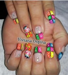 Nail Art Designs Videos, Cool Nail Designs, Luv Nails, Nails For Kids, Nail Decals, Stylish Nails, Nail Arts, Nail Inspo, Manicure And Pedicure