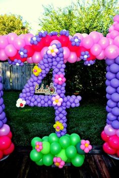Sofia the first balloons decorations