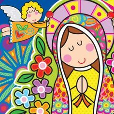 virgencita. VirgencitaVirgen MaríaSantos CatólicosRomero BrittoCamisetasTarjetasDibujosClases ...