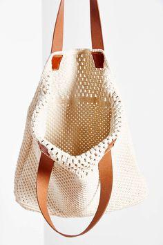 Oversized Macrame Tote Bag
