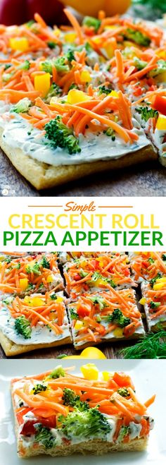 This Simple Crescent Roll Pizza Appetizer recipe is easy to make and always a hit at parties! You ca This Simple Crescent Roll Pizza Appetizer recipe is easy to make and always a hit at parties! Crescent Roll Pizza, Crescent Roll Recipes, Crescent Roll Appetizers, Vegetable Pizza Recipe Crescent Rolls, Pillsbury Crescent Recipes, Cresent Rolls, Appetizers For A Crowd, Appetizer Recipes, Clean Eating Snacks