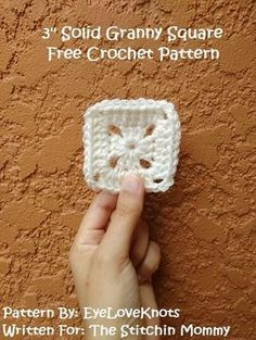 These little 3 inch Solid Granny Squares are great for several different types of crochet projects, including pixel projects! Get the free pattern here!