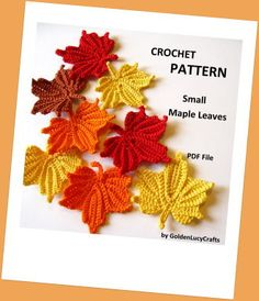 Small Maple Leaves Crochet Pattern   YouCanMakeThis.com   Home Decor   Crochet Pattern   Fall Projects   DIY