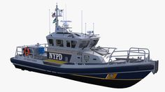 Kvichak RBM-C NYPD Model available on Turbo Squid, the world's leading provider of digital models for visualization, films, television, and games. Yacht Design, Boat Design, Rescue Vehicles, Police Vehicles, New York Police, City Model, Navy Ships, Emergency Vehicles, Fire Engine