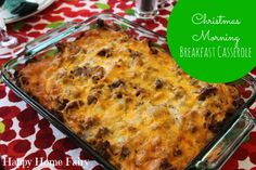 breakfast casserole for christmas morning - so easy and soooo delicious. the perfect tradition!