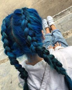 87 unique ombre hair color ideas to rock in 2018 - Hairstyles Trends Cute Hair Colors, Pretty Hair Color, Beautiful Hair Color, Hair Dye Colors, Blue Hair Tumblr, Aesthetic Hair, Coloured Hair, Dye My Hair, Pretty Hairstyles
