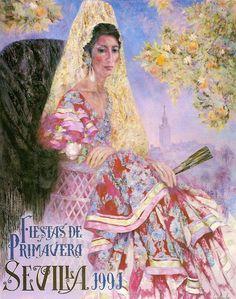 Cartel de Las Fiestas de Primavera de Sevilla 1991