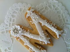 I like this idea -- use a simple cookie cutter, but do a more elaborate letter design on it.