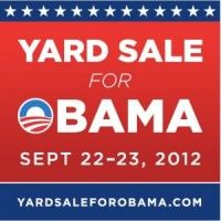 Obama wants Americans to donate money from their yard sales to his campaign.