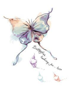 borboleta - aquarela