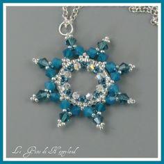 Snowflake beaded blue