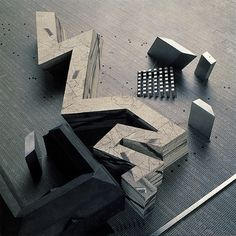 archimodels: daniel libeskind - jewish museum - berlin, germany - 1990    My favourite building.