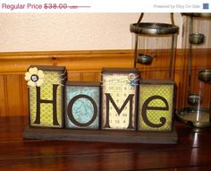 FALL SALE Home Blocks, Wooden Block Set, Boutique Blocks, Family Blocks, Home Decor, Wooden Blocks, Family Sign, Gifts on Etsy, $29.64