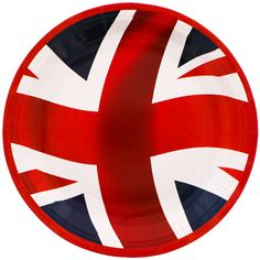 Union Jack Round Paper Plate 23cm Sold Single Size  23cm / 9 inch approx Material  sc 1 st  Pinterest & UK British Union Jack flag Great Britain Drink Cooler | Jack flag ...