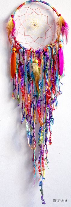 Gypsy Soul Large Native Style Woven Dream Catcher by eenk on Etsy