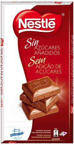 Chocolate con leche Nestlé sin azúcares añadidos (Carrefour) - 5 onzas 2 p