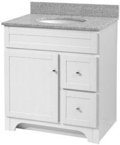 White Bathroom Vanity 30 Inches eleanor 24-inch bathroom vanity (carrara/white): includes a white