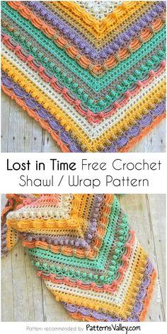 Poncho Au Crochet, Crochet Shawls And Wraps, Crochet Scarves, Crochet Yarn, Crochet Clothes, Crochet Stitches, Free Crochet, Needlepoint Stitches, Shawl Patterns