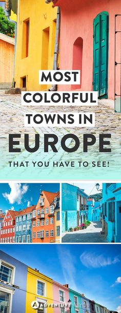 Europe Cities | Looking for the most colorful cities and towns in Europe? Here are a few of our top picks! From pastel colored cities to brightly painted towns, these places in Europe are sure to brighten up your day!